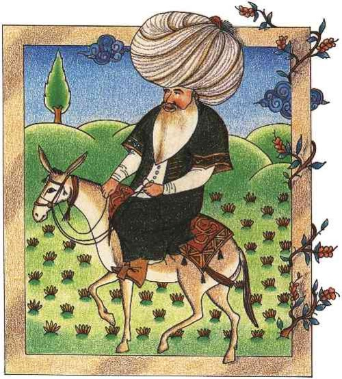 Pintura en miniatura de Nasreddin