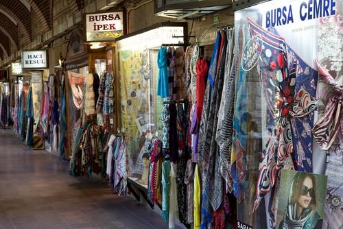 Mercado de seda en Turquia